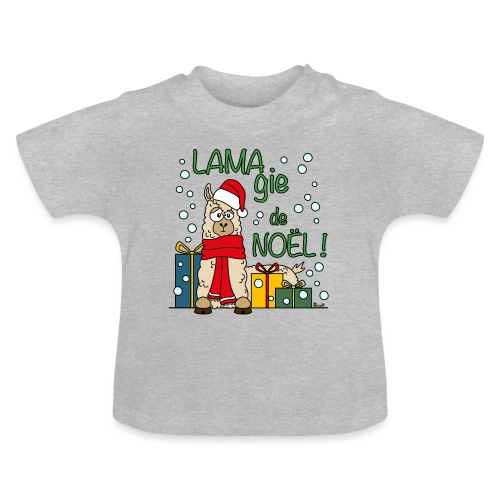 Lama, Magie de Noël, Happy Christmas, Pull moche - T-shirt Bébé