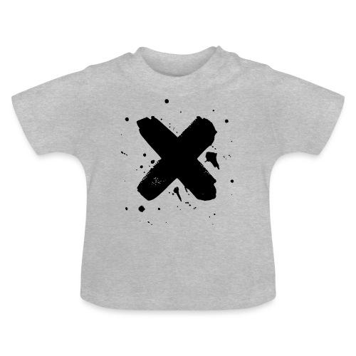 X musta - Vauvan t-paita
