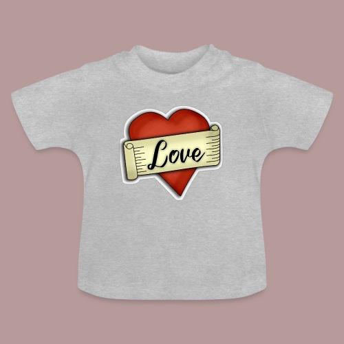 Love cœur tatouage - T-shirt Bébé