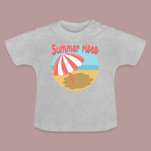 Summer rises parasol sur une plage / mer ciel été - T-shirt Bébé