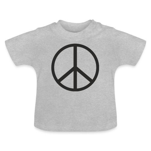 Símbolo de la paz negro - Camiseta bebé