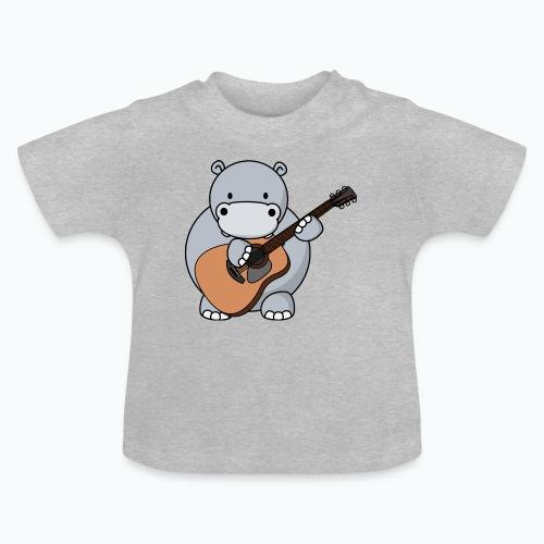 Henri Hippo Guitar - Appelsin - Baby-T-shirt