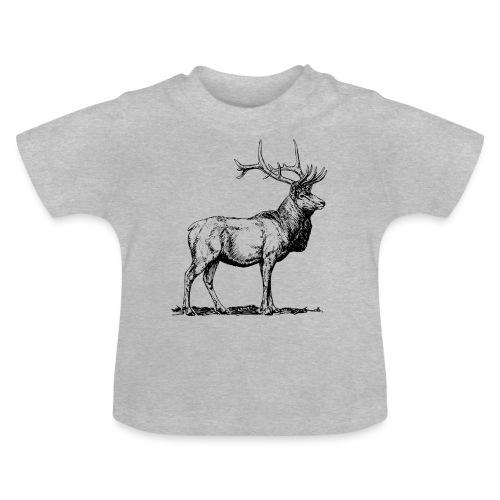 Silueta ciervo real transparente - Camiseta bebé
