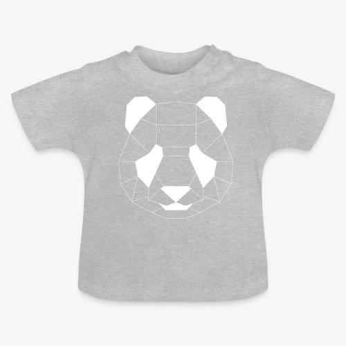 Panda Geometrisch weiss - Baby T-Shirt