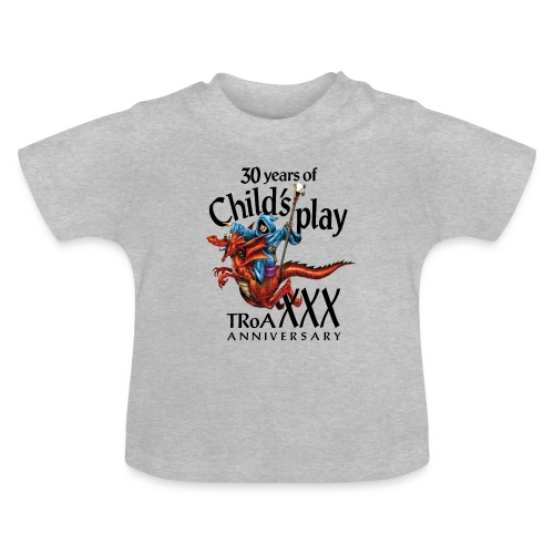 TRoA 30 år - Sort skrift - Baby T-shirt