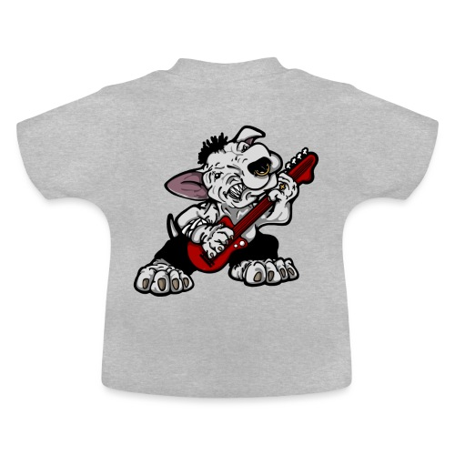 Bass Playing Bull Terrier - Baby T-Shirt