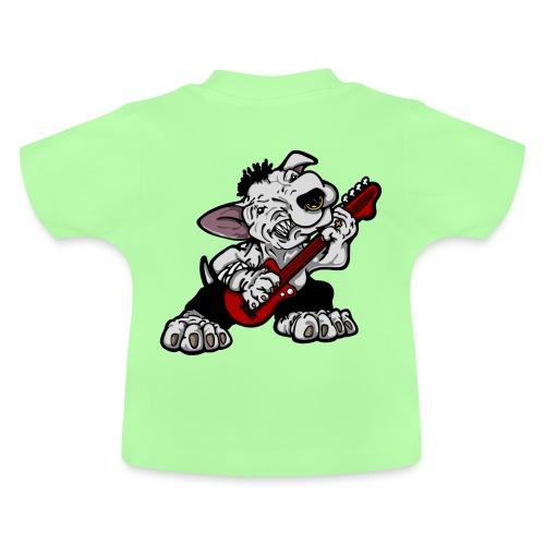Bass Playing Bull Terrier - Baby T-Shirt