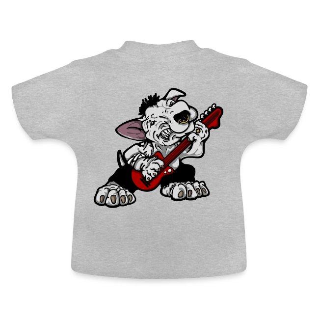 Bass Playing Bull Terrier