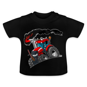 RED TRACTOR white border - Baby T-shirt