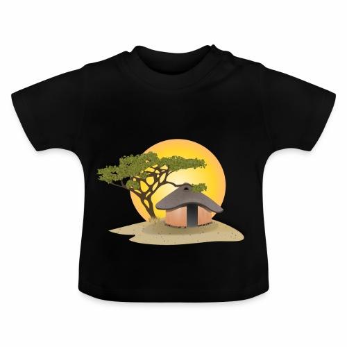 african hut vector art - Baby T-Shirt