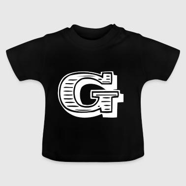 lettera G - Maglietta per neonato