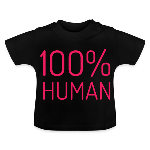 100% Human in roze - Baby T-shirt