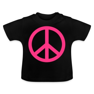 Gay pride peace symbool in roze kleur - Baby T-shirt