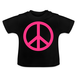 Gay pride peace symbool in roze kleur - Baby T-shirt