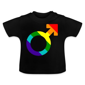 Gay pride regenboog mannen symbool - Baby T-shirt