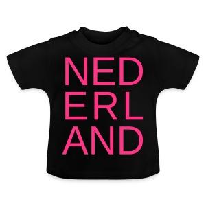 Nederland in de kleur van gay pride roze - Baby T-shirt