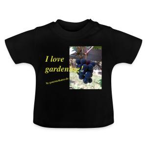 Weintraube - I love gardening - Baby T-Shirt