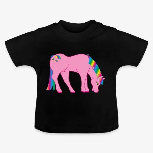 Regenbogen Pferd - Baby T-Shirt