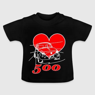 Mitica 500 Cuore - Amo la Mitica 500 - Maglietta per neonato