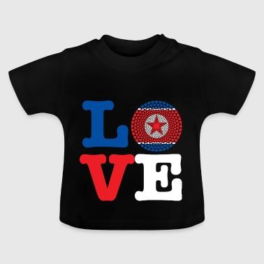 North Korea Nord Korea 조선민주주의인민공화국 Herz Mandala - Baby T-Shirt