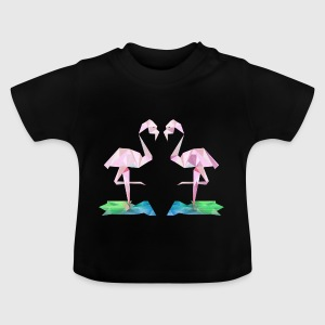 Low-Poly Flamingos - Baby T-Shirt