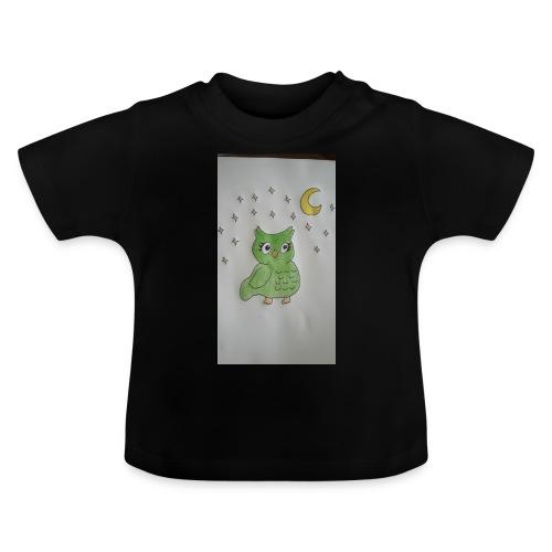 Grüne eule - Baby T-Shirt