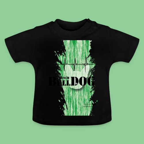 French Bulldog - Kids - gruen - Baby T-Shirt
