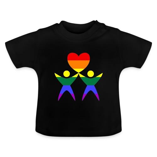 Zwei Männer Herz - Baby T-Shirt