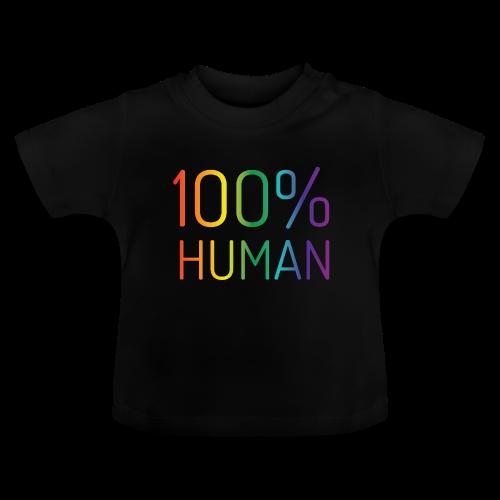 100% Human in regenboog kleuren - Baby T-shirt