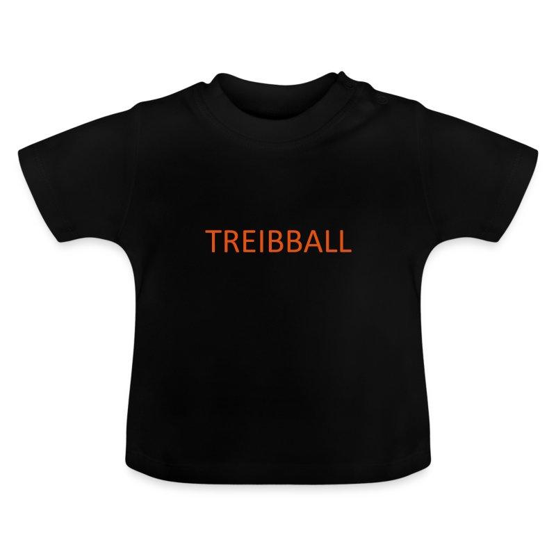 Treibball-Schlüsselband mit orangem Schriftzug - Baby T-Shirt