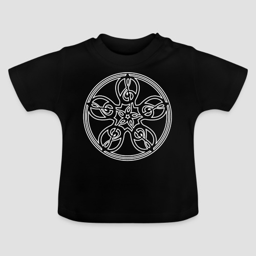 Treble Clef Mandala (white outline) - Baby T-Shirt