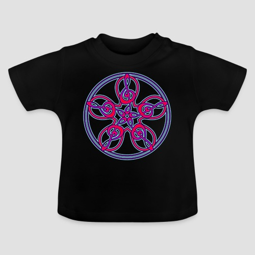 Treble Clef Mandala (red/violet/blue) - Baby T-Shirt