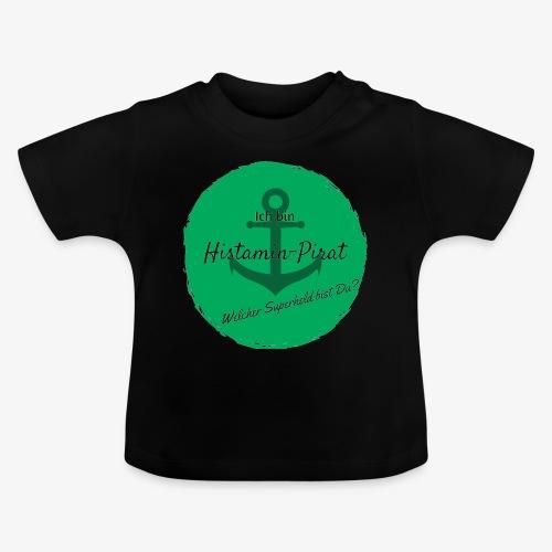 Histamin-Pirat Superheld (grün) - Baby T-Shirt