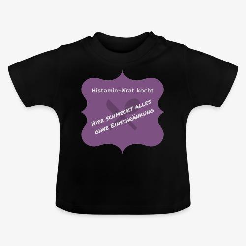 Histamin-Pirat kocht ohne Einschränkung (lila) - Baby T-Shirt