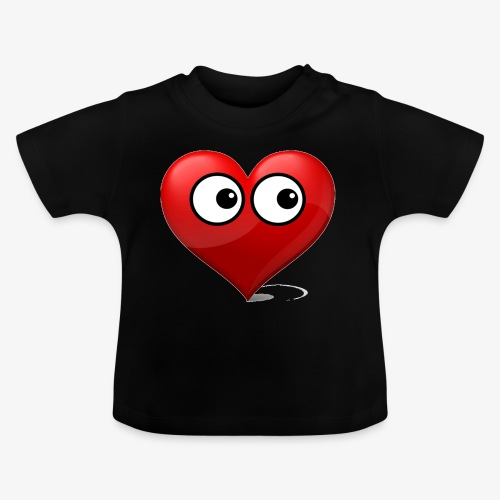 cœur avec yeux - T-shirt Bébé