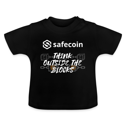 Safecoin Think Outside the Blocks (white) - Baby T-Shirt