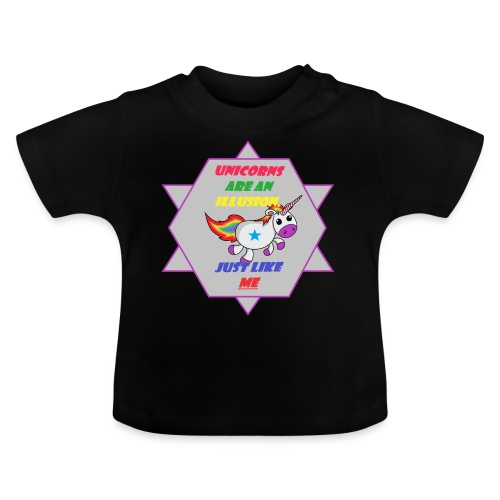 Unicorn with joke - Baby T-Shirt