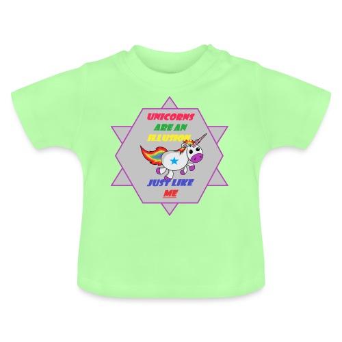 Unicorn with joke - Baby T-Shirt