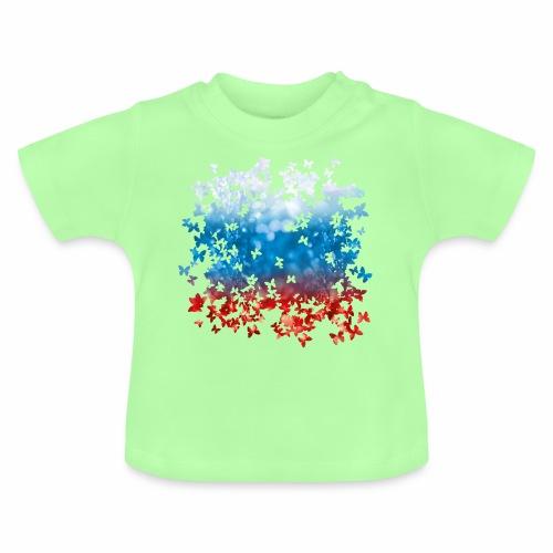 06 Russland Flagge Fahne Russia Schmetterlinge - Baby T-Shirt