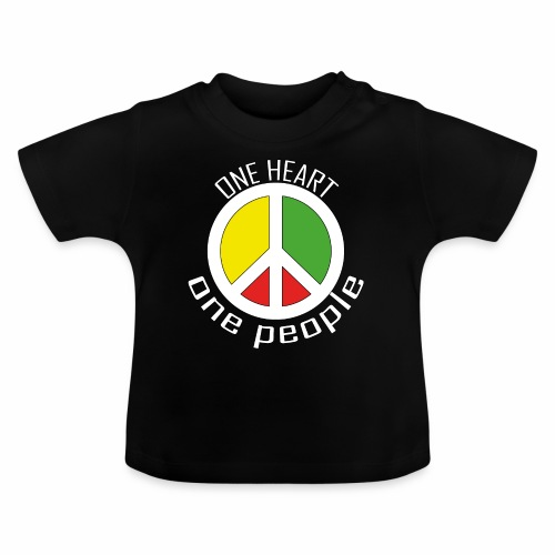 One Heart, One People - Peace - rot, gelb, grün - Baby T-Shirt