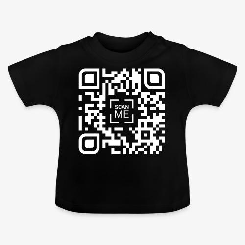QR code (white) - Baby T-Shirt