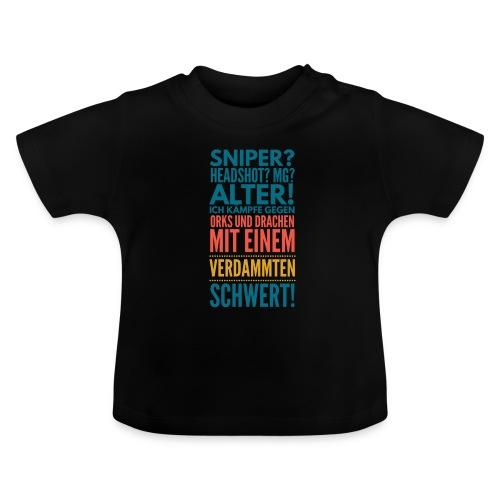 Sniper Headshot Alter Orks Und Drachen Geschenk - Baby T-Shirt