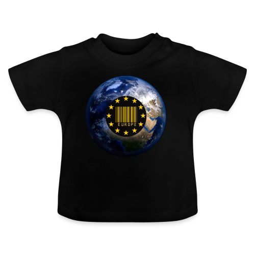 Europa EU Sterne gold Weltkugel - Baby T-Shirt