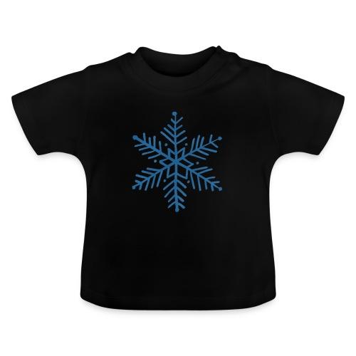 flocon de neige bleu - T-shirt Bébé