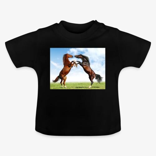 kaksi hevosta - Vauvan t-paita
