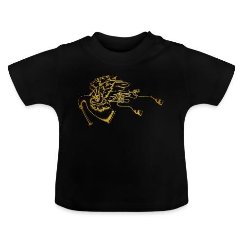 Geflügelte Bagpipe (wie gold) - Baby T-Shirt
