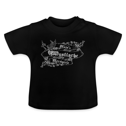 Schriftband Maja's Mystische Menagerie - Weiß - Baby T-Shirt