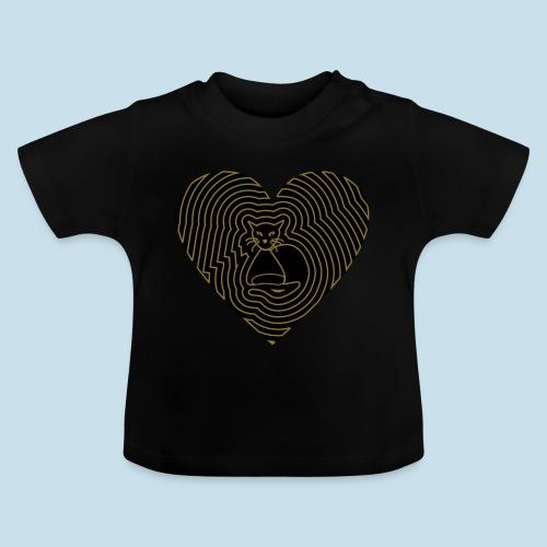 Katzen Herz Spirale 2 Färbig - Baby T-Shirt