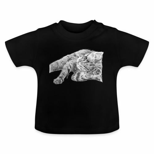 Small kitten in gray pencil - Baby T-Shirt