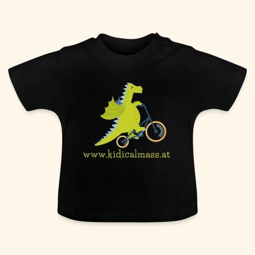 Musikdrache für dunklen Hintergrund - Baby T-Shirt